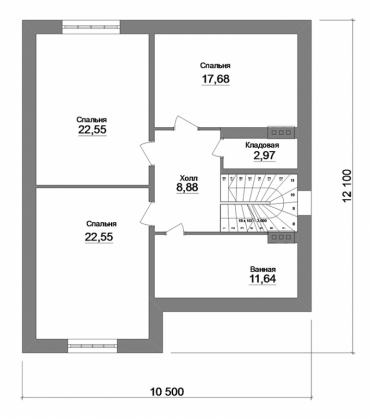 Проект частного дома под ключ №257-213