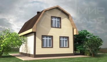 Проект двухэтажного дома из кирпича №233-83