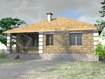 Проект одноэтажного дома под ключ №85-103.