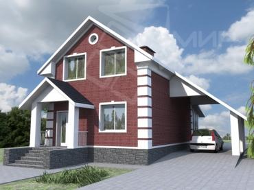 Проект двухэтажного дома №135-130