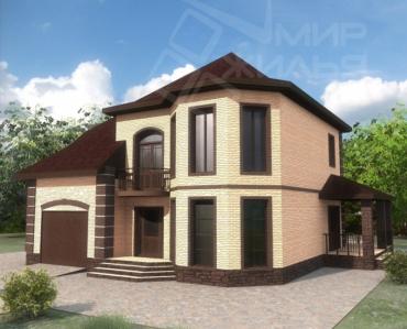 Строительство двухэтажного дома по проекту №328-208