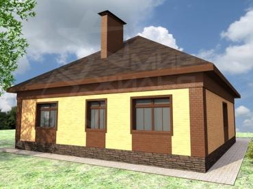 Проект одноэтажного дома №103-107
