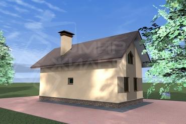 Проект двухэтажного дома под ключ №155-124