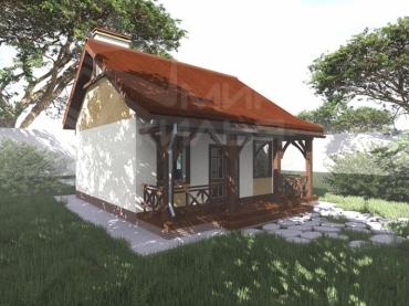 Одноэтажный дом из кирпича