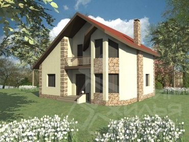 Проект частного дома из кирпича №173-147