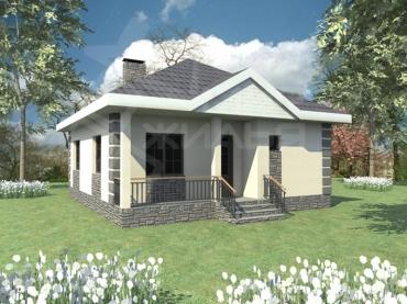 Проект одноэтажного дома №231-77