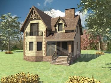 Проект двухэтажного дома площадью