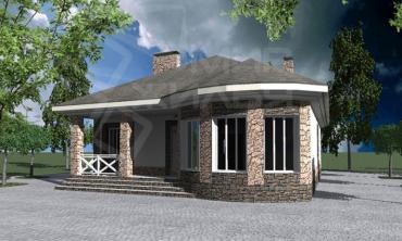Проект индивидуального жилого дома под строительство №89-116