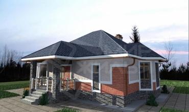 Проект дома для строительства №80-104