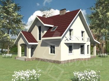 Проект двухэтажного дома из керамического блока №176-175