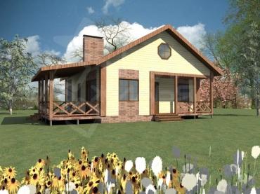 Проект дома 10х10 с отличной планировкой №37-99