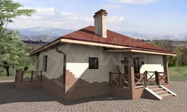 Построить дом под ключ недорого для постоянного проживания №33-105