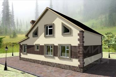 Проект дома из газобетона №168-148