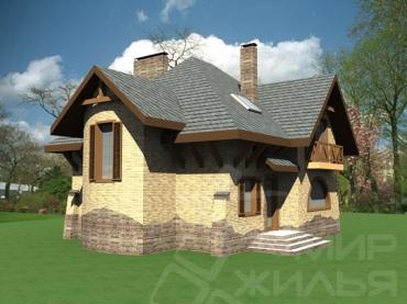 Проект двухэтажного дома №184-165