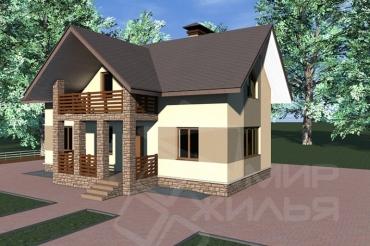 Проект двухэтажного дома под ключ №155-133