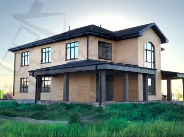 Индивидуальное строительство дома № 358-290.
