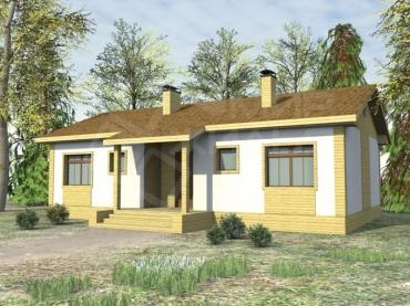 Построить дом под ключ недорого для постоянного проживания №132-93