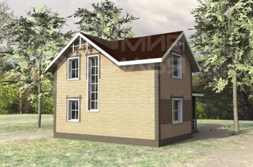 Проект двухэтажного частного дома №140-120