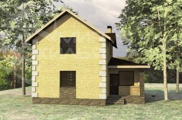 Проект двухэтажного дома №127-112