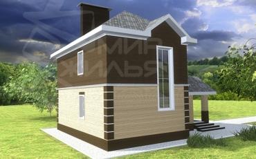 Проект двухэтажного дома из керамического блока №242-105