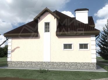 Проект двухэтажного дома №274-206