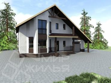 Проект двухэтажного дома из кирпича №270-200