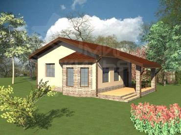 Одноэтажный дом строительство №48-84