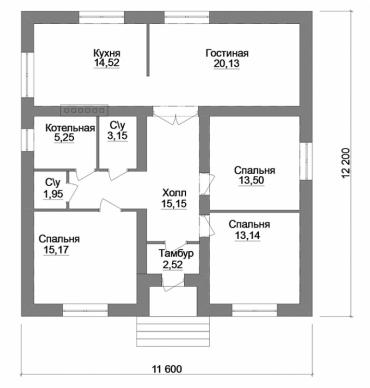 Проект частного дома из керамического блока
