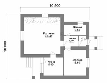 План двухэтажного дома