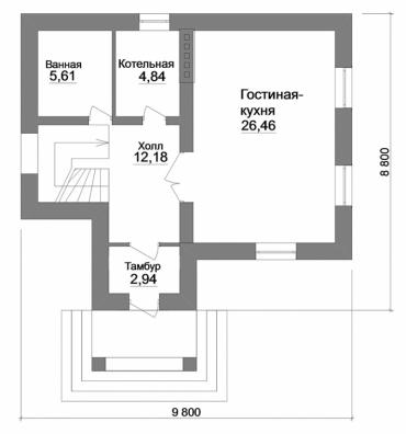 План двухэтажного дома из керамического блока