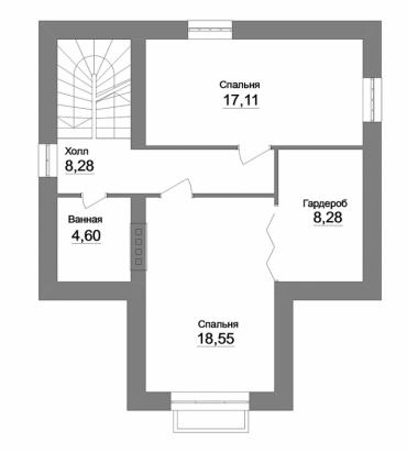 Проект двухэтажного дома №174-144