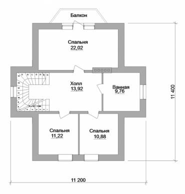 Проект двухэтажного дома №178-159