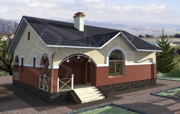 Проект дома 10х10 с отличной планировкой №34-107