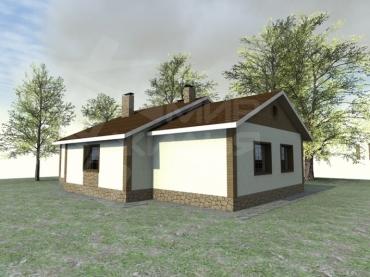 Проект одноэтажного дома под ключ №201-150