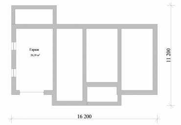 План частного дома с гаражом