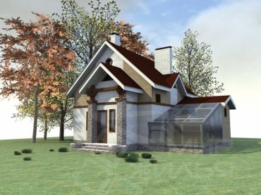 Недорогой дом с бассейном №136-122