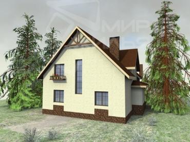 Проект двухэтажного дома №97-218
